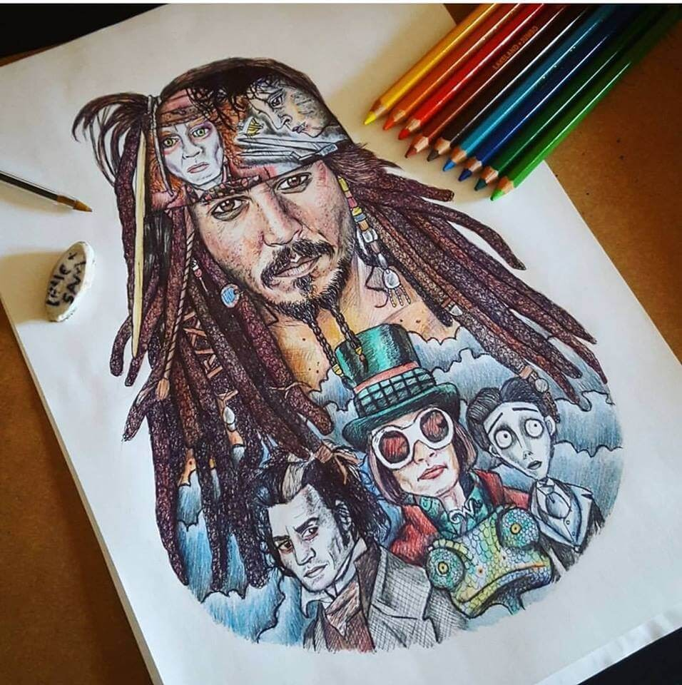 02-Johnny-Depp-Movies-Sam-Brunell-littlesamsart-Movie-Character-Drawings-within-Characters-www-designstack-co