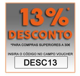 13% de desconto