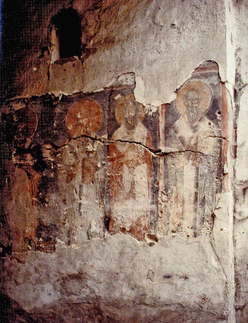 A fresco from Saint Sophia Church., Ohrid in 1913
