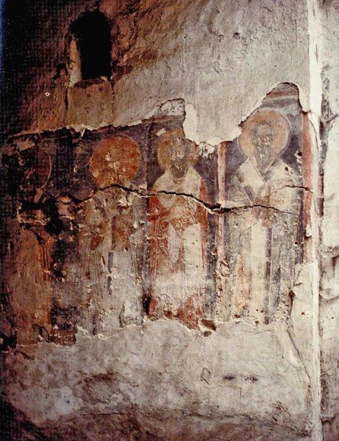 A fresco from Saint Sophia Church., Ohrid in 1913