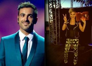 Emma Marrone e Marco Mengoni agli MTV Awards 2013