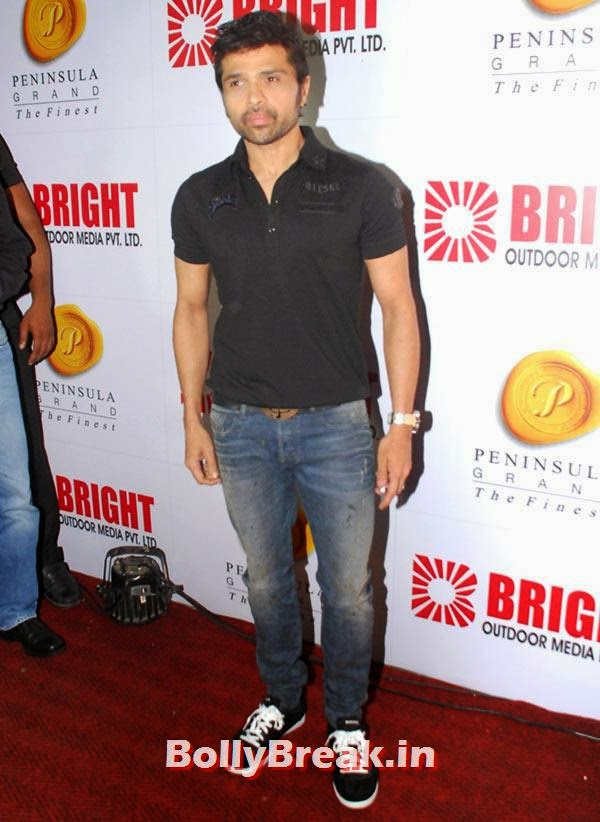 Himesh Reshammiya, Ranbir, Hrithik at Bright awards 2014