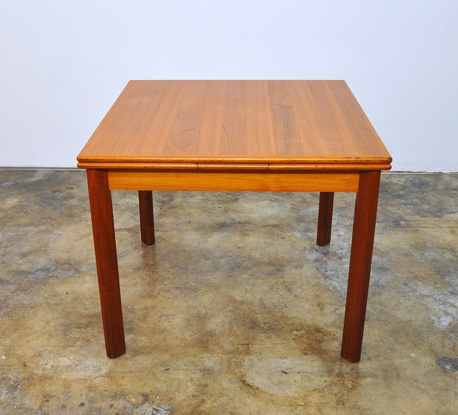 dining room table expandable   SELECT MODERN: BRDR. Furbo Teak Expandable Dining Room Table