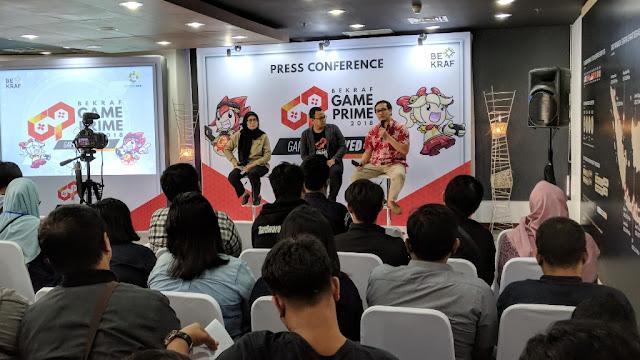 konferensi pers bekraf game prime 2018