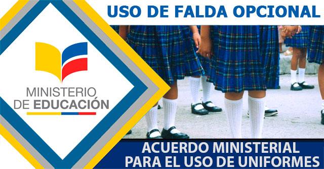 229e901e86165 El uso de falda será opcional según nuevo acuerdo ministerial para el uso  de uniformes en 2018