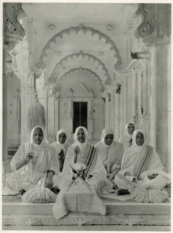 Jain Nuns in the New Jaina Temple, Ahmedabad, Gujarat - 1928