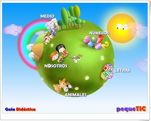 Planeta animado: PequeTic, Multidisciplinar de Educación Infantil