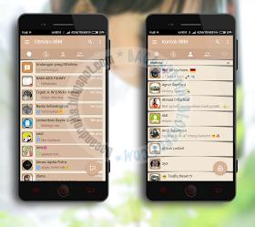 BBM mod Mi-Simple Brown Style v3.3.0.16 Apk terbaru