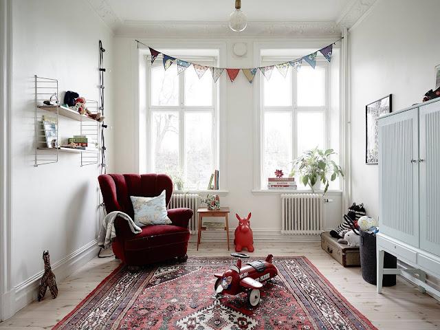 pokój dziecięcy, pokój w stylu skandynawskim