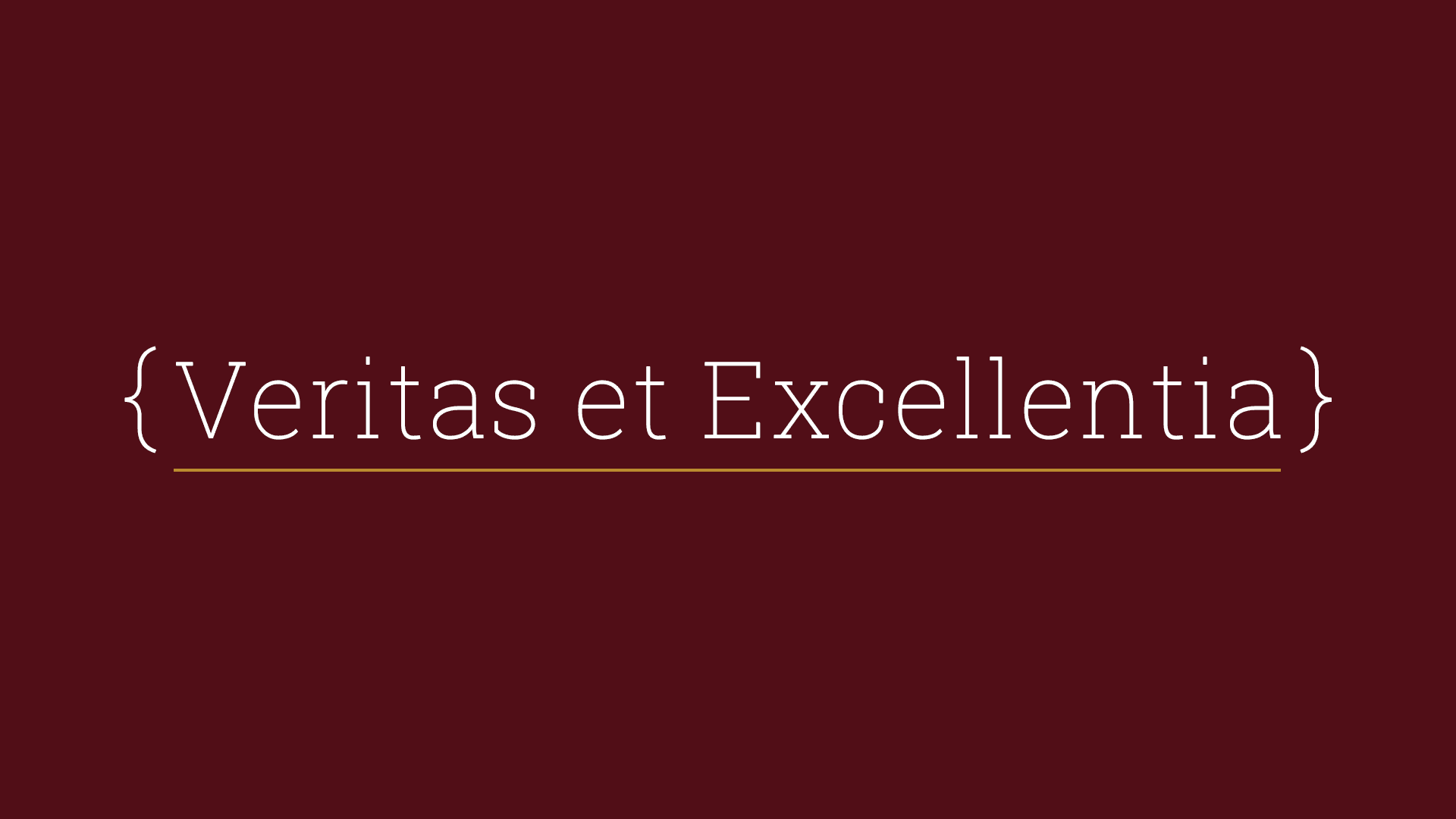 """Veritas et excellentia"" is Latin for ""truth and excellence"" and are my core values."