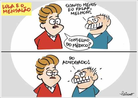 Charge do dia: Lula e o Mensalão - Por Pelicano