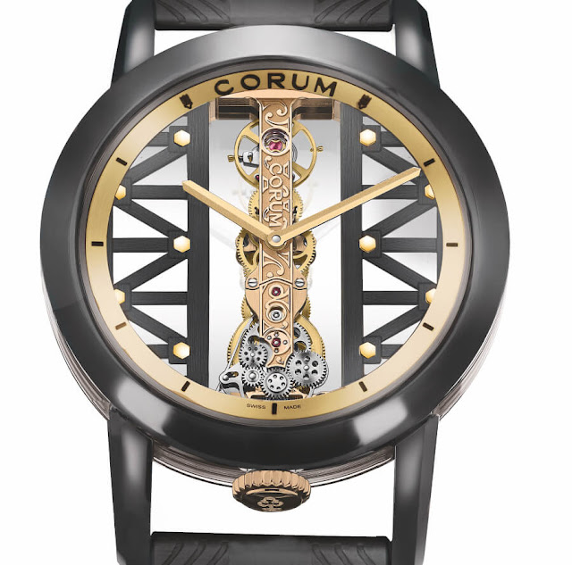 New Corum Golden Bridge Titane DLC