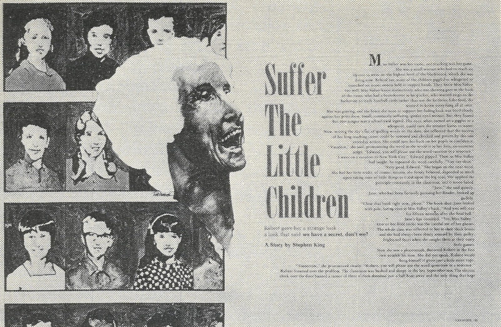 a review of suffer the little children by stephan king Great stephen king suffer the little children is little children (2015): a short film review bonfire films: suffer the little children.