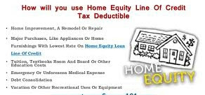 Home Equity Loan, Home Equity Line Of Credit Tax, Tax Deductible