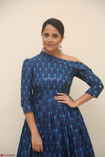 Anchor Anasuya in a Blue Gown at Jai Lava Kusa Trailer Launch ~  Exclusive Celebrities Galleries 014.JPG