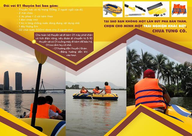 Trải nghiệm chèo thuyền hơi mới lại tại Đà Nẵng