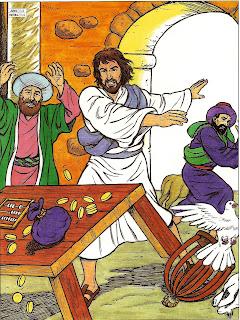 Resultado de imagem para jesus expulsa os mercadores do templo