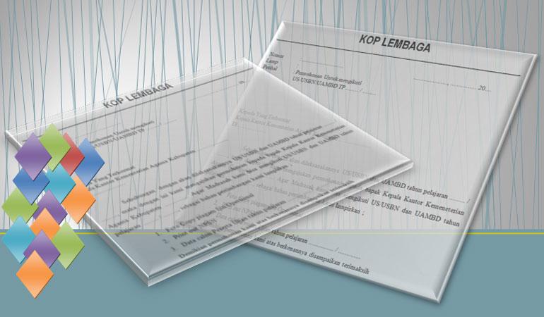 Download Contoh Format Surat Permohonan Mengikuti / Penyelenggara US /UM / USBN / UAMBD