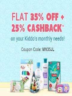 Firstcry  Offer Flat 35% off & extra 25% Cashback on Monthly Essentials