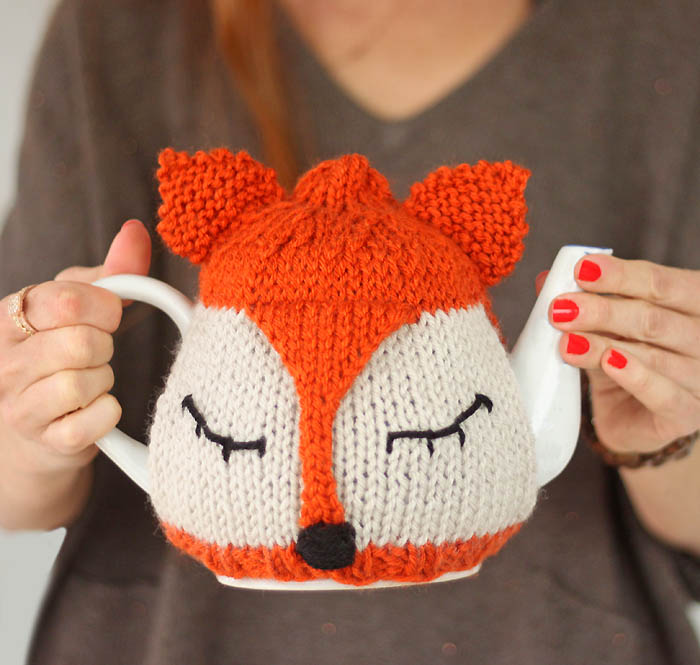 tea cosy template - fox tea cosy free knitting pattern and tea proudly with