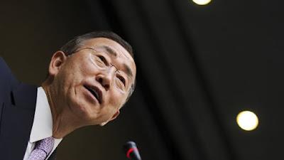 Sekjen PBB Ban Ki-moon mengutuk keras serangan udara rusia di suriah