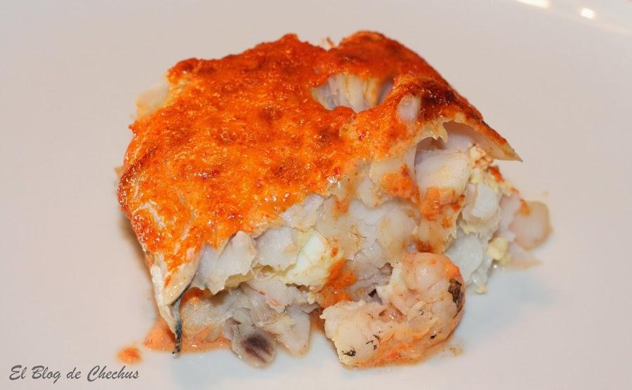 Merluza, Segundos platos, Merluza rellena con crema de pimientos, el blog de chechus,