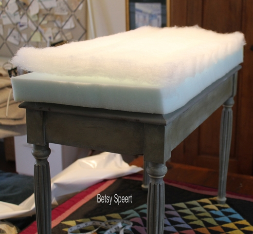 Betsy Speert S Blog Adding An Upholstered Top To A Hard Bench