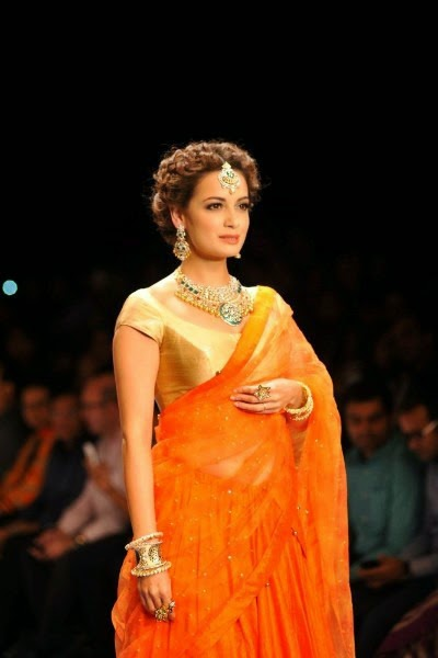 Dia Mirza in orange saree