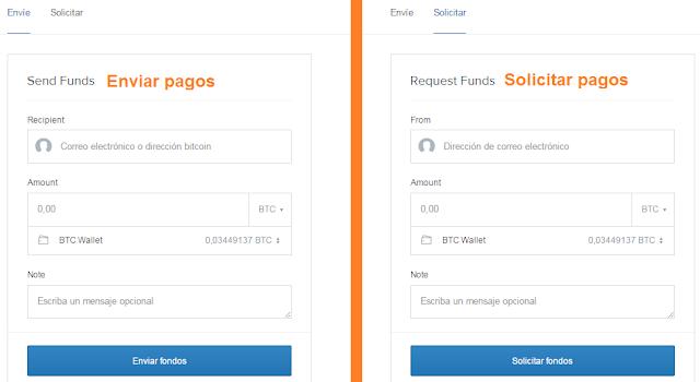 Coinbase Procesador de Pagos Online para enviar y recibir pagos en Bitcoin (e-Wallet)