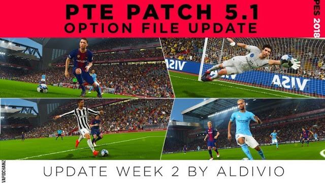 Option File Update For PTE Patch 5.1 PES 2018