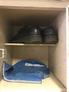 Japanese school genkan lockers shoes