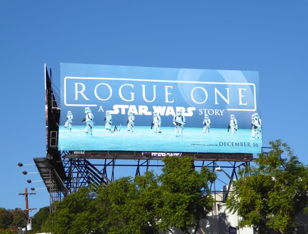 Rogue One Star Wars movie billboard