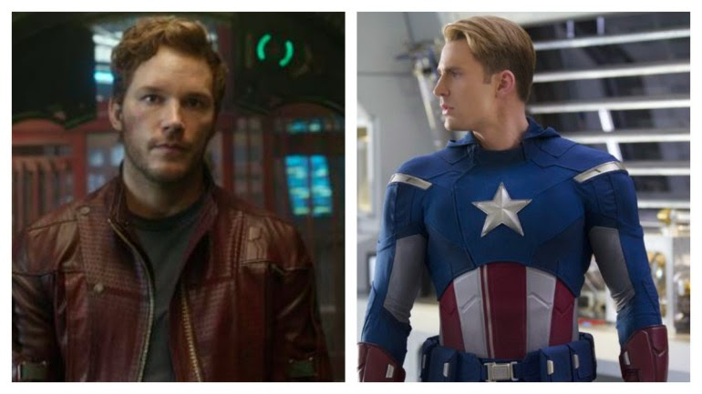 Captain America vs Starlord superbowl bet pari steve rogers peter quill chris pratt chris evans