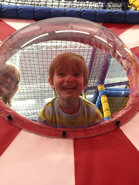 Bert Bishop at Soft Play at John Bunyan Sports and Fitness, Bedford