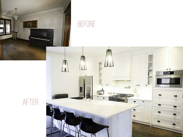 Project Rad: Toronto century home renovation - modern open concept black and white kitchen |navkbrar.blogspot.com