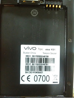 Firmware Vivo Y21 Scatter MT6580