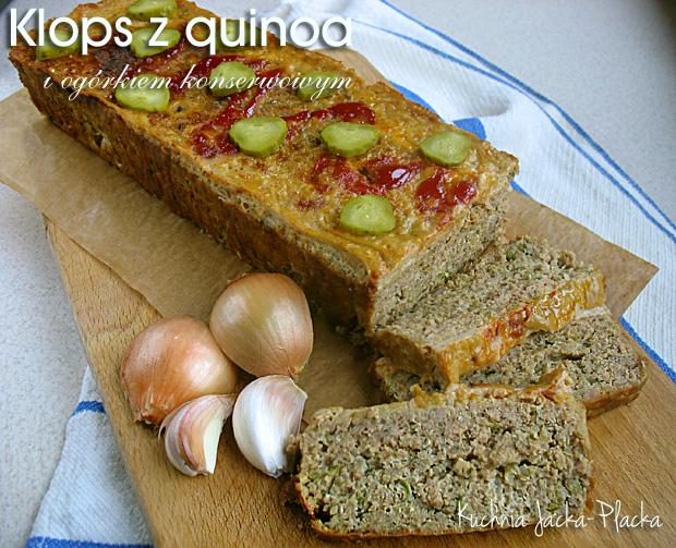 Klops z quinoa i ogórkiem konserwowym