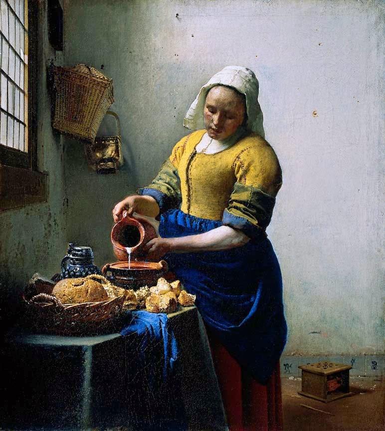 A Leiteira - Vermeer, Jan e suas principais pinturas