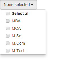 Drop Down list with checkbox using java script and css in