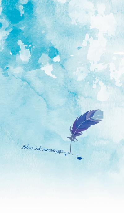 Blue ink message*