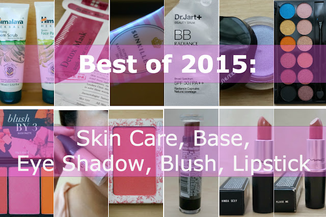 Best of 2015: Skin Care, Base, Eye Shadow, Blush, Lipstick