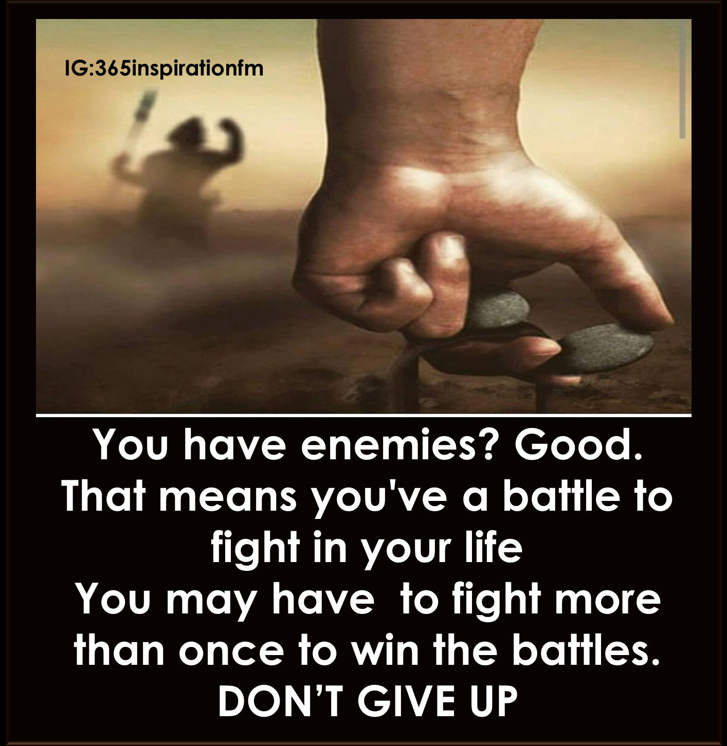 God May Not Fight Our Battle For Us Because He Has Given Us The Power To  Overcome All Battles Of Life. Donu0027t Let The Enemy Take Away Your Joy, You  Need To ...
