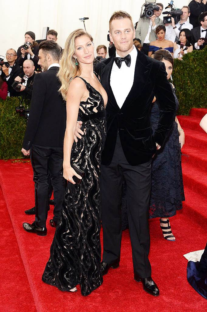 Fashionable Couples at the 2014 Met Gala Gisele Bundchen in Balenciaga and Tom Brady in Tom Ford