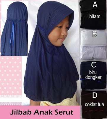 Jilbab Anak Serut Polos