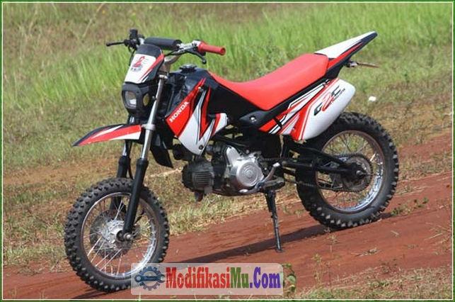 Ban Tahu Offroad Konsep Gaya Modifikasi Honda Win 100 Klasik Jadi Motor Trail Modern Supermoto