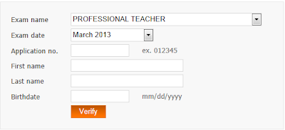 Verify rating for March 2013 LET