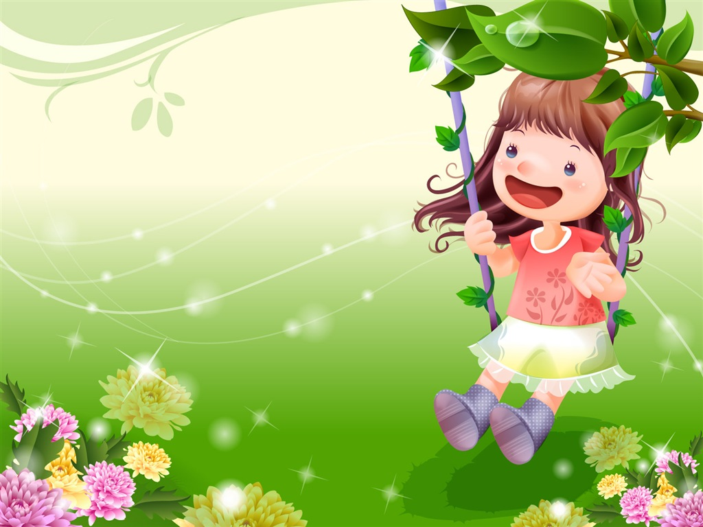 Cool WallPaper: 可愛圖案 Cute Cartoon Wallpaper 01 童年卡通可愛桌布 01