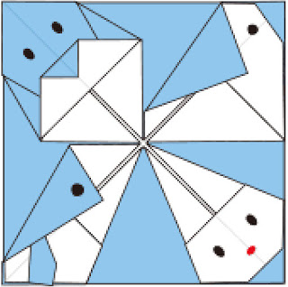 Bước 11:Vẽ mắt mũi để hoàn thành gấp cái đặt cốc hình các con vật