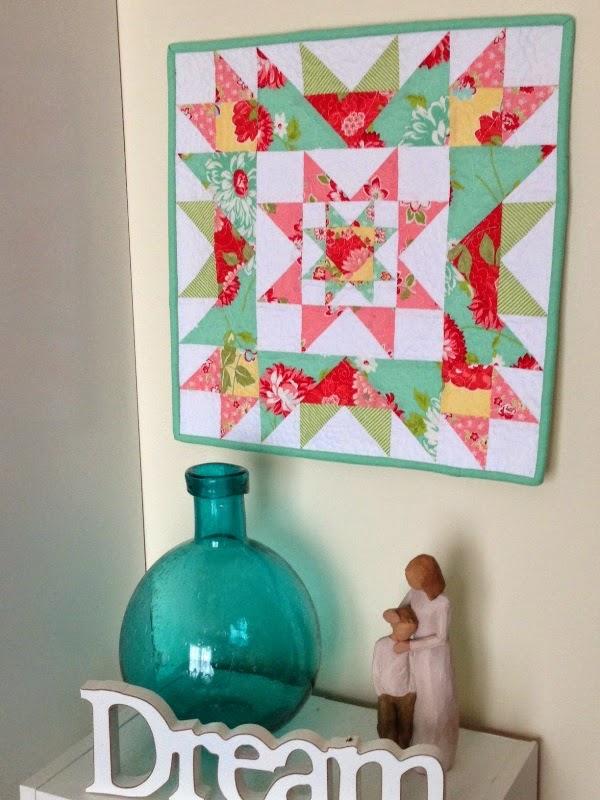 Free Pattern Star Cluster Mini Quilt Threadbare Creations