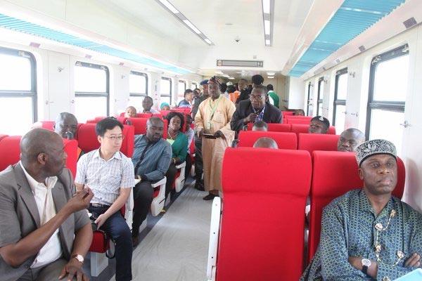 Amaechi rides Abuja-Kano train to test-run project